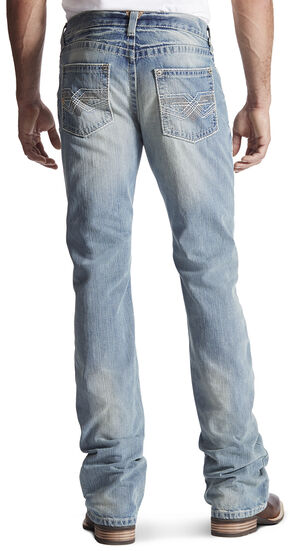 Ariat Men's M6 Eldorado Low Rise Bootcut Jeans, Denim, hi-res