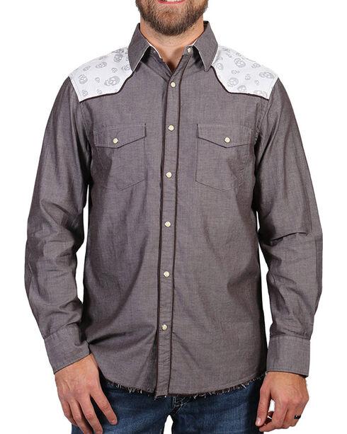 Rock Roll n Soul Men's Tumble & Twirl Long Sleeve Shirt, Brown, hi-res