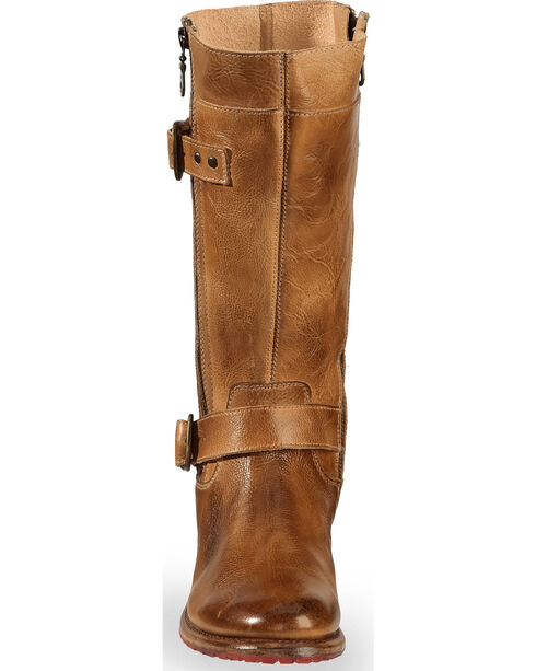 Bed Stu Women's Tan Gogo Lug Strap Boots - Round Toe , Tan, hi-res