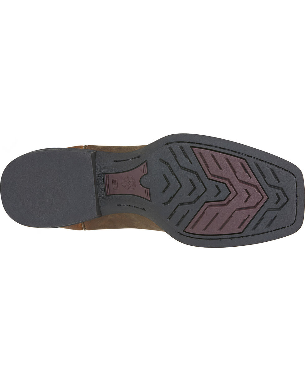 Ariat Men's Heritage Roper Boots - Wide Square Toe, Brown, hi-res