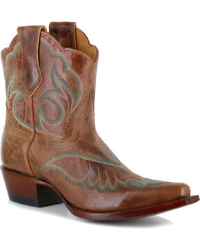Shyanne Women's Embroidered Western Booties - Snip Toe, Tan, hi-res