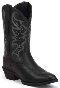 Justin Men's All Star Black Western Boots - Round Toe , , hi-res