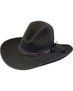 Justin Men's Black 7X Fur Felt Quick Draw Hat, Black, hi-res