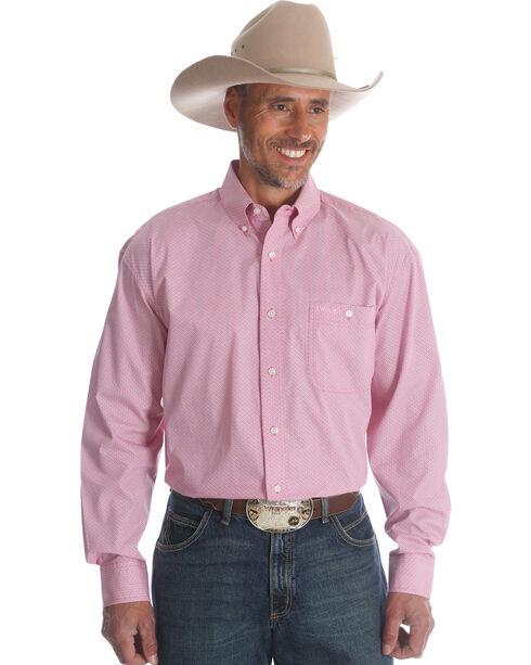 Wrangler Men's Tough Enough To Wear Pink Western Shirt , Pink, hi-res