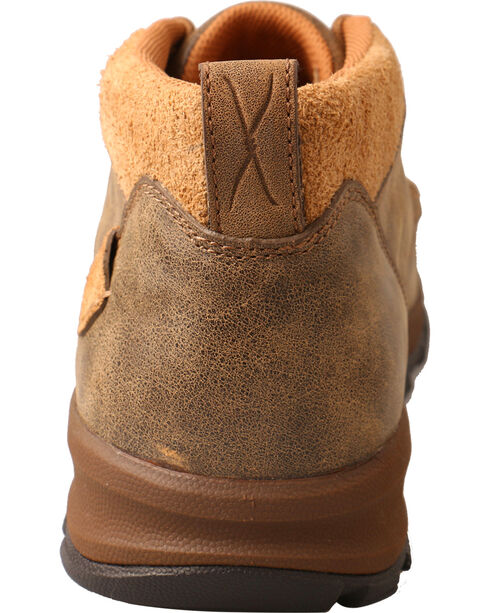 Twisted X Men's Basketweave Hiker Shoes - Moc Toe, Brown, hi-res