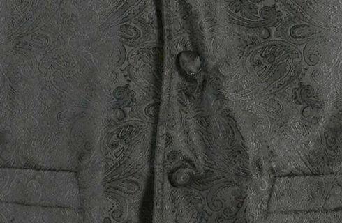 Cody James Men's Paisley Print Western Vest, Black, hi-res