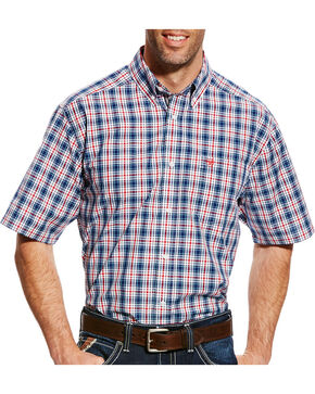 Ariat Men's Gerald Plaid Short Sleeve Shirt - Tall , Multi, hi-res