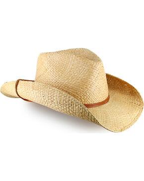 Stetson Straw Fashion Cowboy Hat, Natural, hi-res