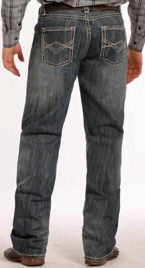 Tuf Cooper Performance Competition Fit Medium Wash Diamond Jeans - Straight Leg , Denim, hi-res