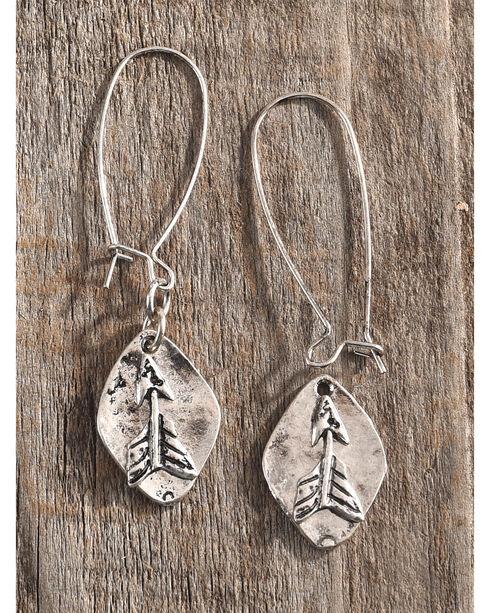 Shyanne Women's Arrow Hook Earrings, Silver, hi-res