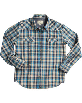 Cody James Men's Claim Jumper Plaid Flannel Shirt, Tan, hi-res
