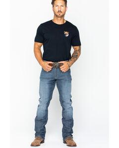 Wrangler Men's Indigo Retro Slim Fit Stretch Jeans - Straight Leg , Indigo, hi-res