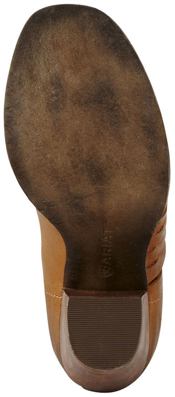 Ariat Women's Tan Lindsley Open Toe Bootie, Tan, hi-res