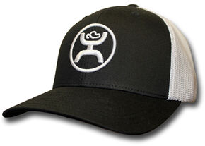 HOOey Men's Black and White Cody Ohl Signature Hat  , Black, hi-res