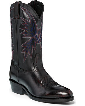 "Nocona Men's 12"" Black Cherry Cowboy Boots - Round Toe, Black Cherry, hi-res"