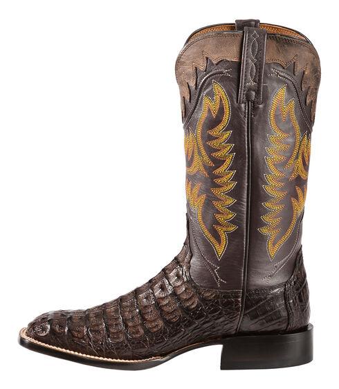 Lucchese Handmade 1883 Men's Rhys Hornback Caiman Cowboy Boots - Square Toe, Barrel Brn, hi-res