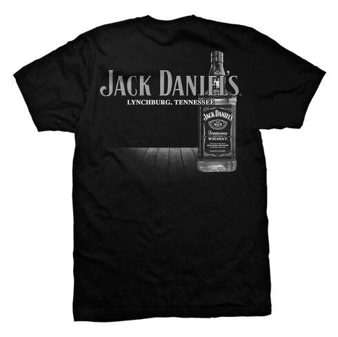 Jack Daniel's Men's Big Bottle Short Sleeve T-Shirt, Black, hi-res