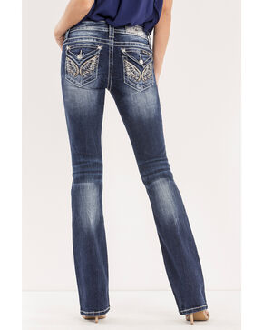 Miss Me Women's Blue Fearless Mid-Rise Jeans - Boot Cut , Blue, hi-res