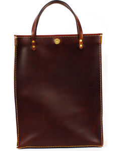 SouthLife Supply Brick Leather Magazine Tote, Mahogany, hi-res