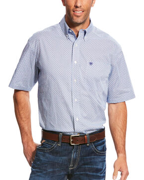 Ariat Men's Casual Series Myers Print Short Sleeve Button Down Shirt - Tall, Multi, hi-res