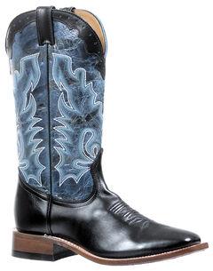 Boulet Torino Calf Black Puma Turqueza Boots - Square Toe, , hi-res