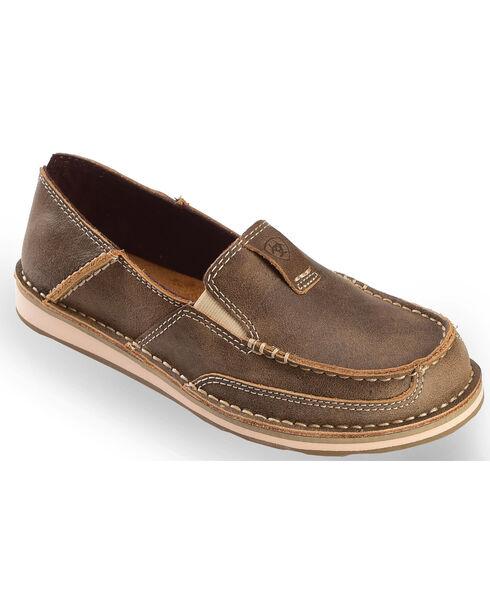 Ariat Women's Brown Bomber Cruiser Shoes, Brown, hi-res
