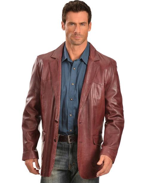 Scully Black Cherry Lamb Leather Blazer - Big, Black Cherry, hi-res