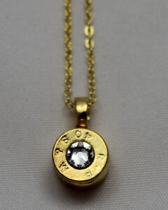 SouthLife Supply Women's Dolly Bullet Pendant in Traditional Gold with Crystal, Gold, hi-res