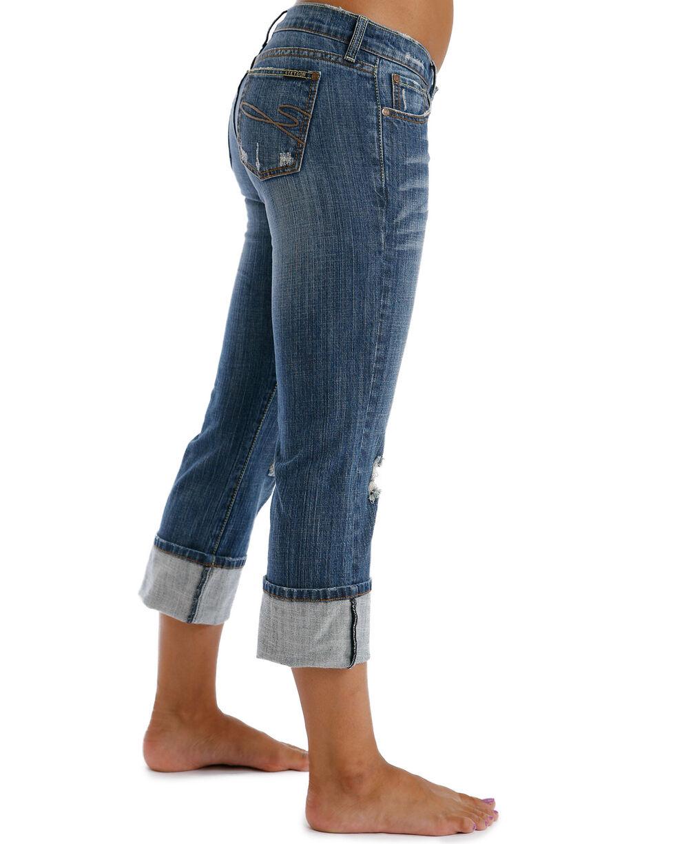 Stetson Women's 816 Classic Cropped Jeans, Denim, hi-res
