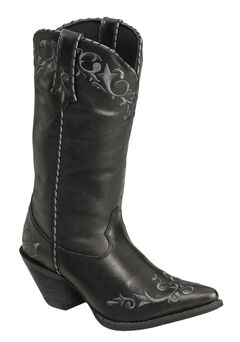 Durango Faux Leather Laced Cowgirl Boots - Pointed Toe, , hi-res