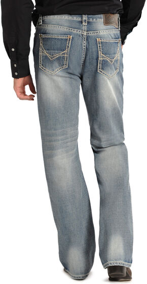 Rock and Roll Cowboy Double Barrel Relaxed Fit Jeans - Straight Leg, Med Wash, hi-res