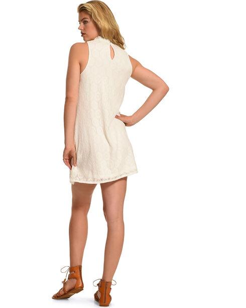 Polagram Women's Embroidered Sleeveless Dress , White, hi-res