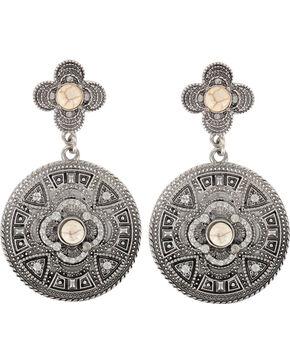Shyanne Women's Vintage Medallion Earrings, Cream, hi-res