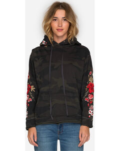 Johnny Was Women's Camo Merl Pull On Hoodie , Camouflage, hi-res