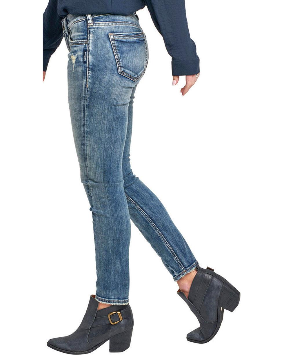 Silver Women's Aiko Medium Wash Ankle Skinny Jeans, Indigo, hi-res