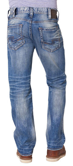 Silver Men's Zac Relaxed Fit Straight Leg Jeans, , hi-res