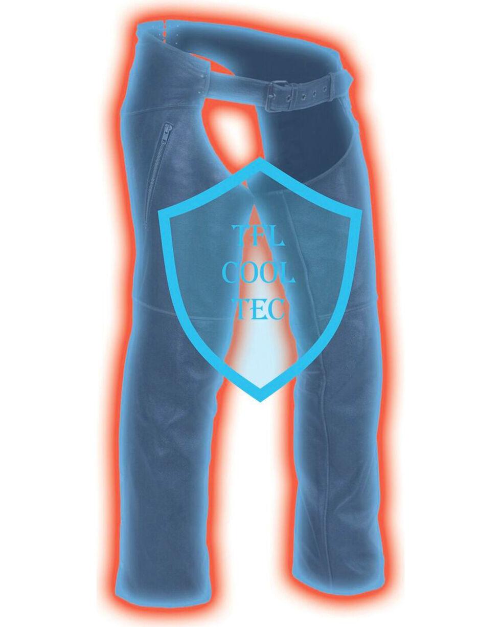 Milwaukee Leather Men's Cool Tec Leather Chaps - 3X, Black, hi-res