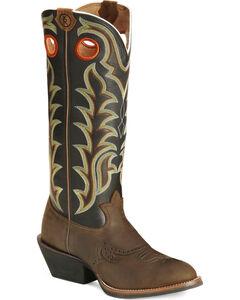 Tony Lama 3R Series Buckaroo Boots - Round Toe, , hi-res
