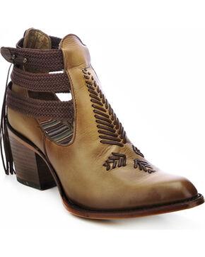 Corral Women's Braided Strap Heels, Tan, hi-res