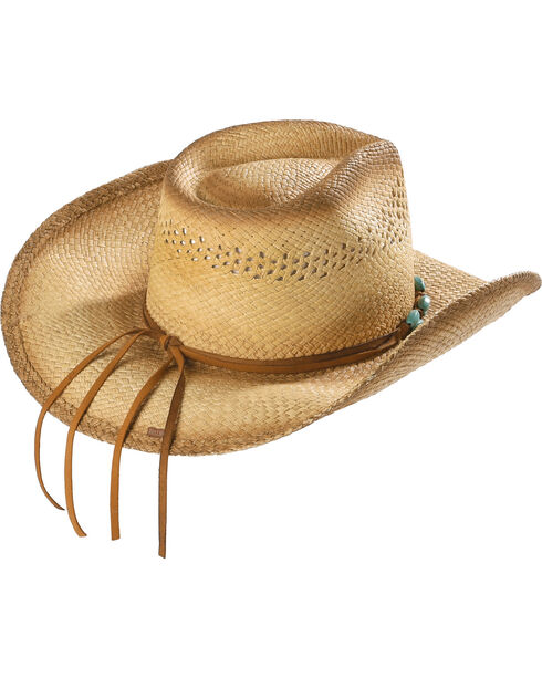Bullhide You are Easy on the Eyes Straw Cowgirl Hat, Natural, hi-res