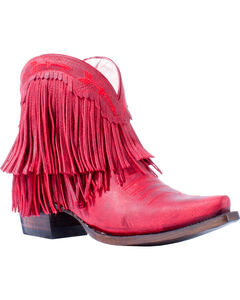 Junk Gypsy by Lane Women's RedSpitfire Boots - Snip Toe, Red, hi-res