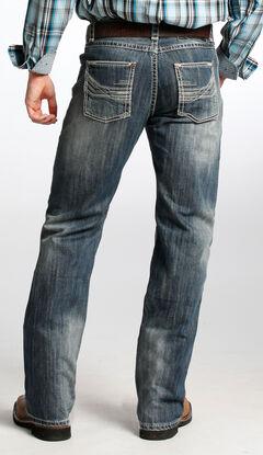 Tuf Cooper Men's Competition Fit Dark Vintage Wash Straight Jeans  , , hi-res