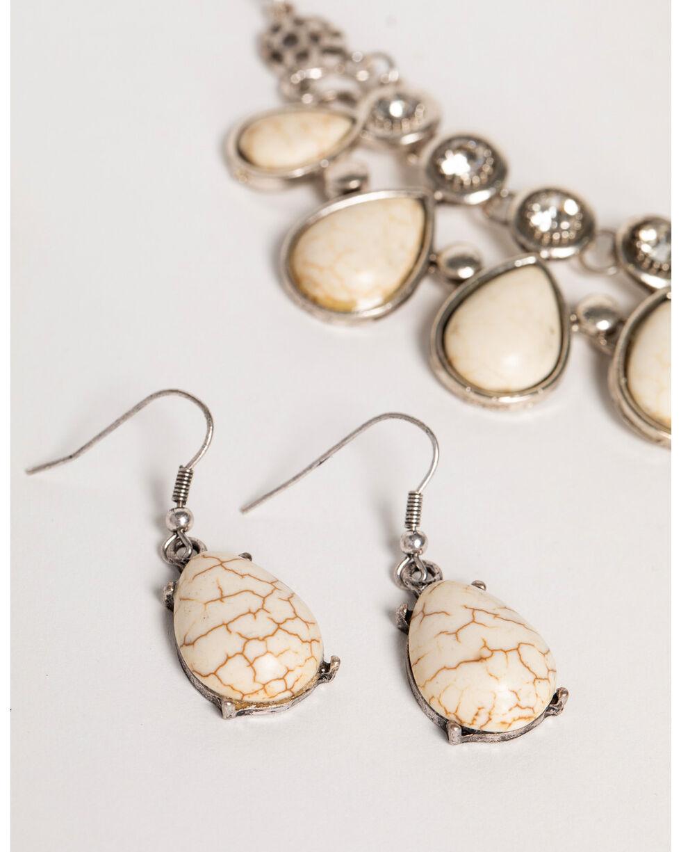 Shyanne Women's Teardrop Marble Jewelry Set , Silver, hi-res