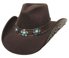 Bullhide Sweet Emotion Wool Cowgirl Hat, Chocolate, hi-res