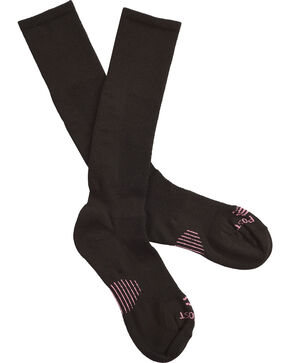 Dan Post Women's Cowgirl Certified Sleek Thin Socks - Black, Black, hi-res