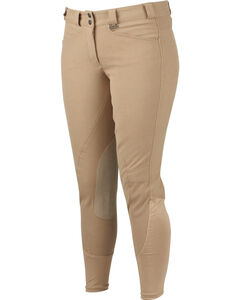 Dublin Perfomance Signature Euro Seat Front Zip Breeches, , hi-res