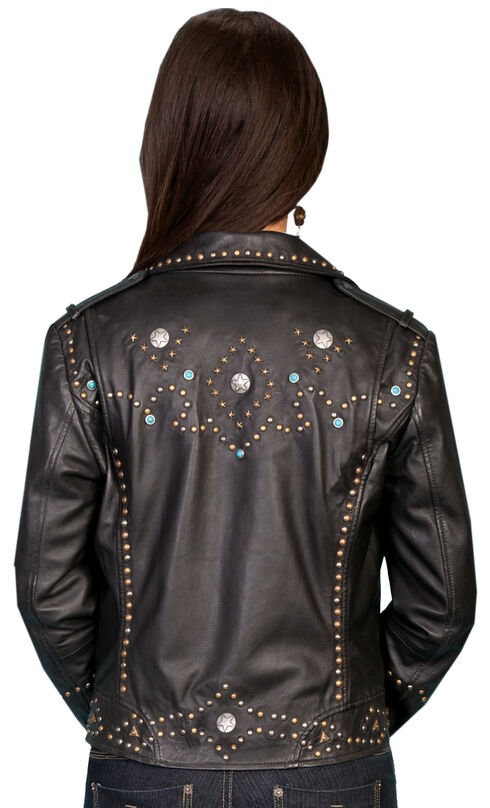Scully Lambskin Motorcycle Jacket, Black, hi-res