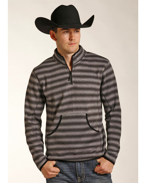 Powder River Outfitters Men's Ombre 1/4 Zip Pullover, Grey, hi-res