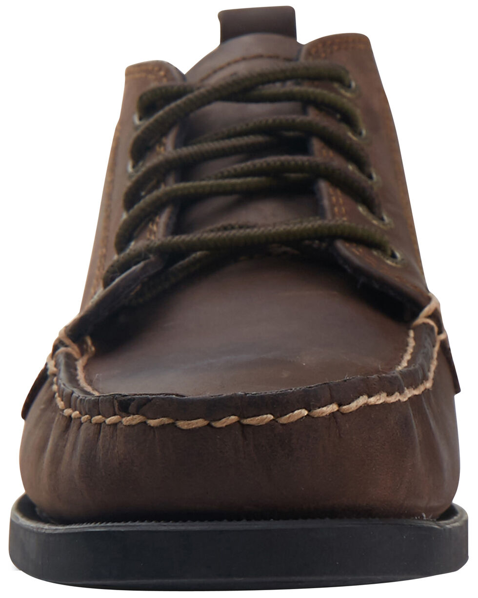 Eastland Women's Bomber Brown Seneca Camp Moc Chukka Boots, Brown, hi-res