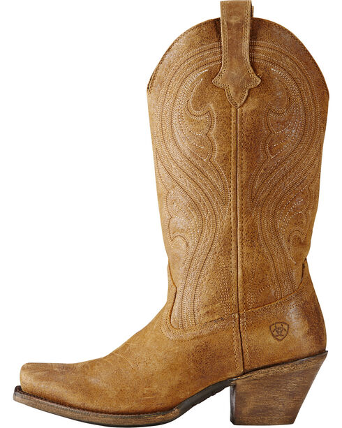 Ariat Women's Lively Western Boots - Square Toe, Brown, hi-res